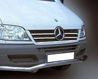 Накладки на решетку радиатора Mercedes Sprinter 2002-2006 (5 шт.нерж.) Carmos