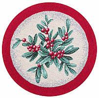 """Серветка-підкладка новорічна гобеленова """"Свято наближається"""" (10 см)"""