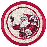 """Серветка-підкладка новорічна гобеленова """"Свято наближається"""" (20 см)"""