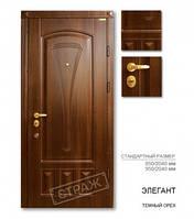 Входная дверь ЭЛЕГАНТ темный орех, двери Страж