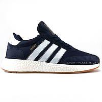 Мужские кроссовки Adidas Iniki Runner Boost blue (Адидас Иники) синие