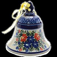 Рождественский Колокольчик большой керамический Festive