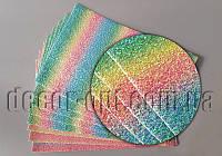 EKO кожа  1мм мультицвет крупный блеск  20х30см/10шт 1880165