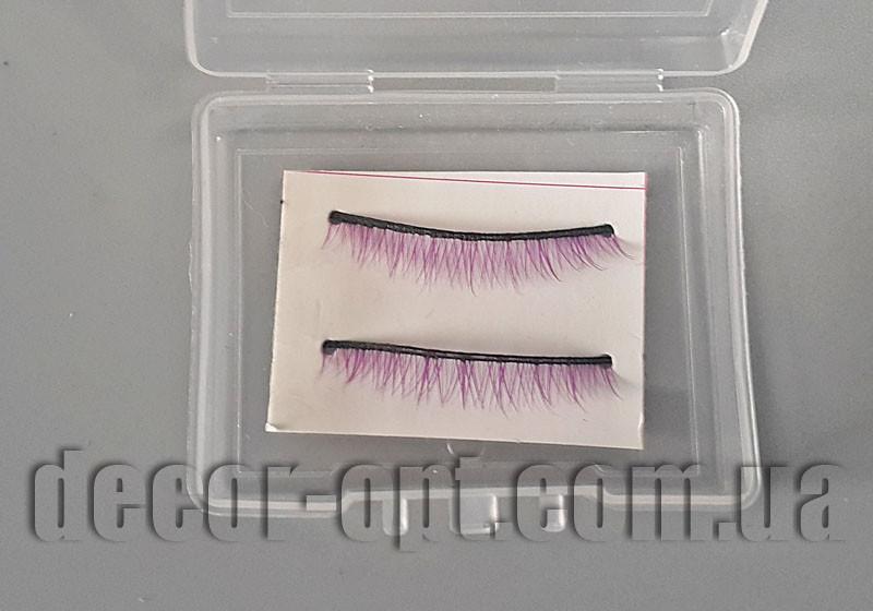 Накладні вії для ляльки фіолетові 3,0-3,5 см