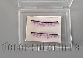 Накладные ресницы для куклы фиолетовые 3,0-3,5см