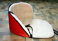 Матрасик на санки с наполнителем внутри красный, фото 1