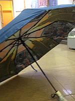 Зонт женский 9 спиц  автомат с двойным куполом города синий