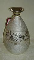 Ваза керамическая серебрянная с гравировкой, фото 1
