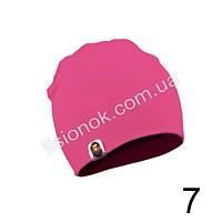 Ярко-розовая трикотажная однотонная шапка Bape для подростков и взрослых 54-62см