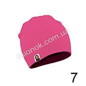 Яскраво-рожева трикотажна однотонна шапка Bape для підлітків та дорослих 54-62см