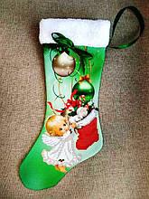 ЧХ-3. Пошитий новорічний чобіток з хутром, під вишивку