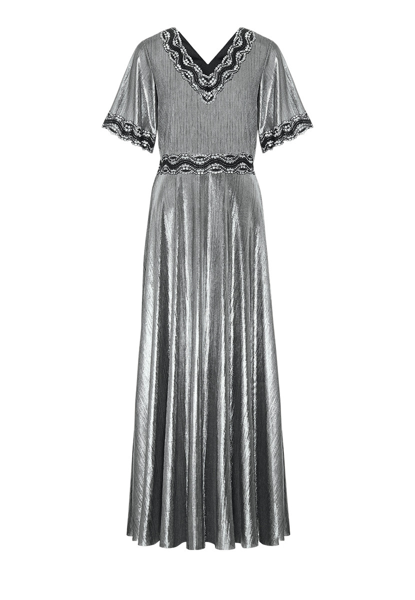 306dd484fd6 Faberlic женское Платье с кружевом цвет черный размер 40 42 44 46 48 50 52  54