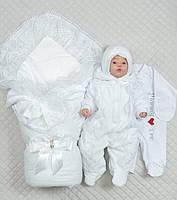 """Зимний набор на выписку """"Восторг"""" для новорожденной девочки 5 предметов , фото 1"""