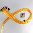 Искусственные термо пряди волос на заколках, светло оранж, фото 2