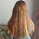 Искусственные термо пряди волос на заколках, светло оранж, фото 8