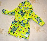 Детский махровый халат Микки, желтый 28(92-98см)