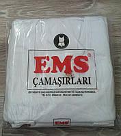 Майка мужская EMS 100% хлопок, Турция, размер XXS (44), белая, 02451