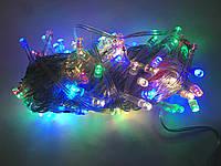 Гирлянда 100 LED 5mm, на прозрачном проводе, Разноцветная