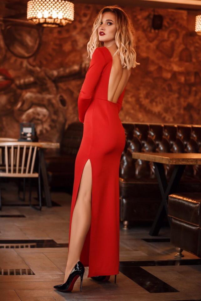 Платье в пол,открытая спина