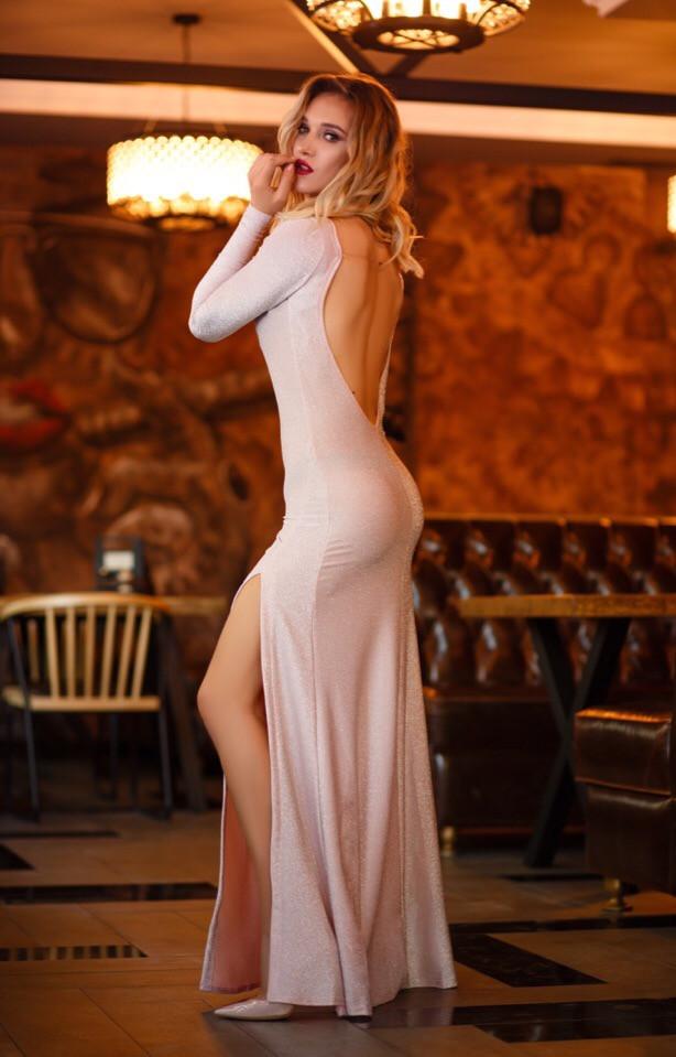 Вечернее платье люрекс длинное открытая спина
