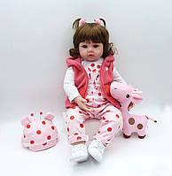 Кукла реборн 62 см девочка Эмма
