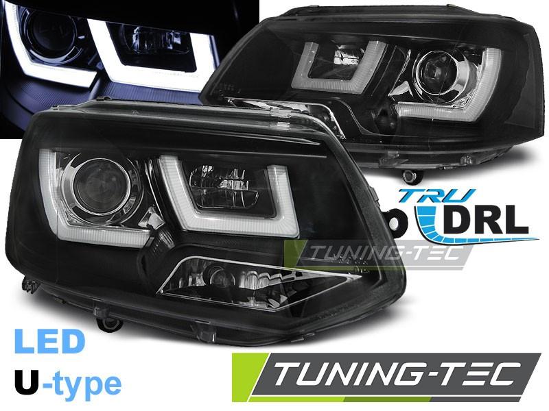 Передние фары VW T5 (10-15) тюнинг Led оптика