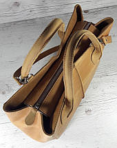 59-5 Натуральная кожа, Сумка женская рыжая КРЕЙЗИ ХОРС Женская сумка кожаная рыжая, фото 2