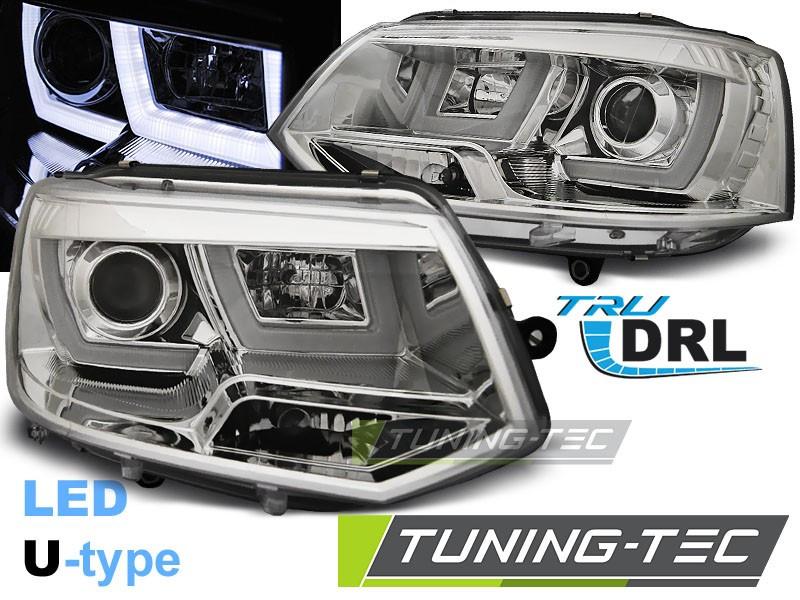 Передние фары тюнинг оптика Volkswagen T5 рестайл
