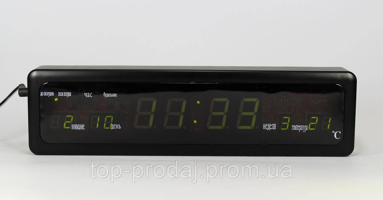 Электронные часы Led Clock CX 808 green с зеленой подсветкой, Часы  с крупными цифрами, Настольные часы