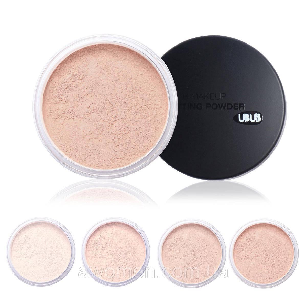 Рассыпчатая пудра для лица Ubub Makeup Setting Powder Face № 1