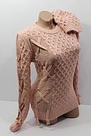 Вязаные свитера в комплекте с шапкой оптом и в розницу I-tik 1090