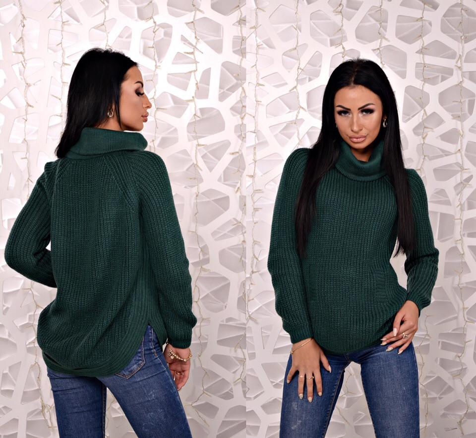 18d4b54b3da5 Женский вязаный свитер свободного кроя с воротником