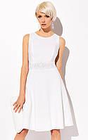 Женское летнее коктейльное платье молочного цвета с юбкой клеш. Модель Sally Zaps, весна-лето 2015