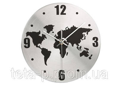 Часы настенные с картой мира