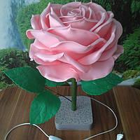 Светильник  ночник роза розовая Ростовые цветы из изолона, фото 1