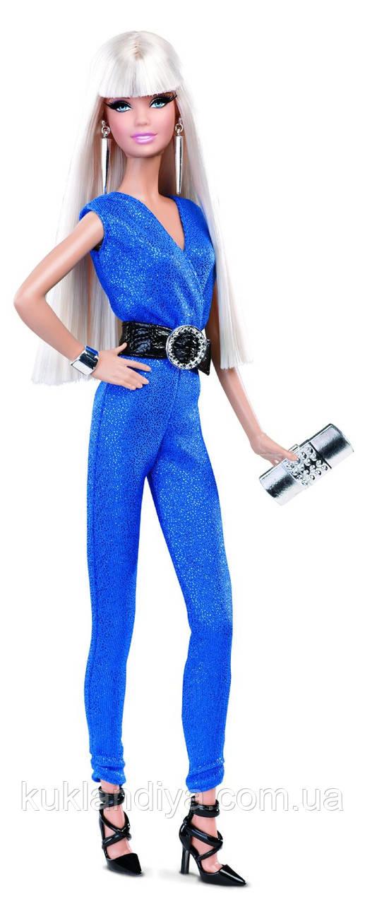 Лялька Барбі в блакитному комбінезоні Висока мода - The Look: Blue Jumpsuit Barbie