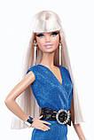 Лялька Барбі в блакитному комбінезоні Висока мода - The Look: Blue Jumpsuit Barbie, фото 2