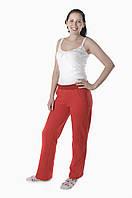 Спортивные женские брюки красные с начесом