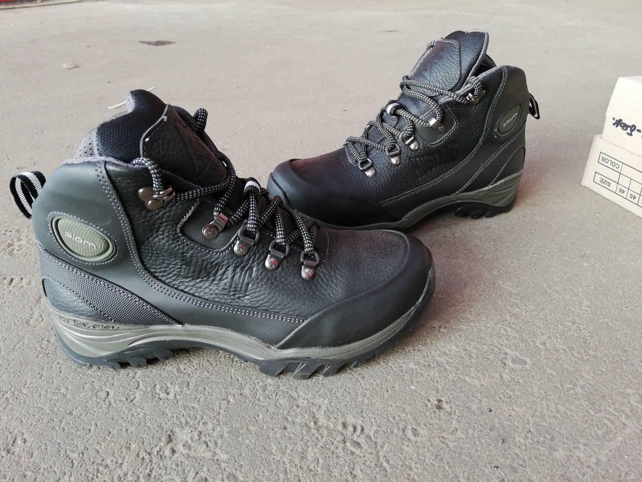 Мужские зимние кожаные ботинки EccoBiom Mustang черные 40, 41, 42, 43, 44, 45
