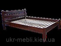 Кровать двуспальная деревянная Модерн 160*200, ольха массив