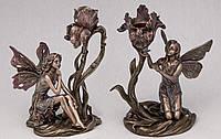 Набор подсвечников Veronese Феи с бронзовым покрытием