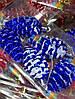 Елочная Игрушка Новогоднее украшение Шишка Заснеженная в Упаковке 5 шт 5 см Цвета В Ассортименте, фото 2