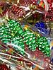 Елочная Игрушка Новогоднее украшение Шишка Заснеженная в Упаковке 5 шт 5 см Цвета В Ассортименте, фото 3