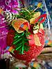 Елочная Игрушка Новогодний Шар Заснеженный с Шишкой Колокольчиком 7 см Цвета в Ассортименте, фото 4