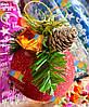 Елочная Игрушка Новогодний Шар Заснеженный с Шишкой Колокольчиком 7 см Цвета в Ассортименте, фото 8