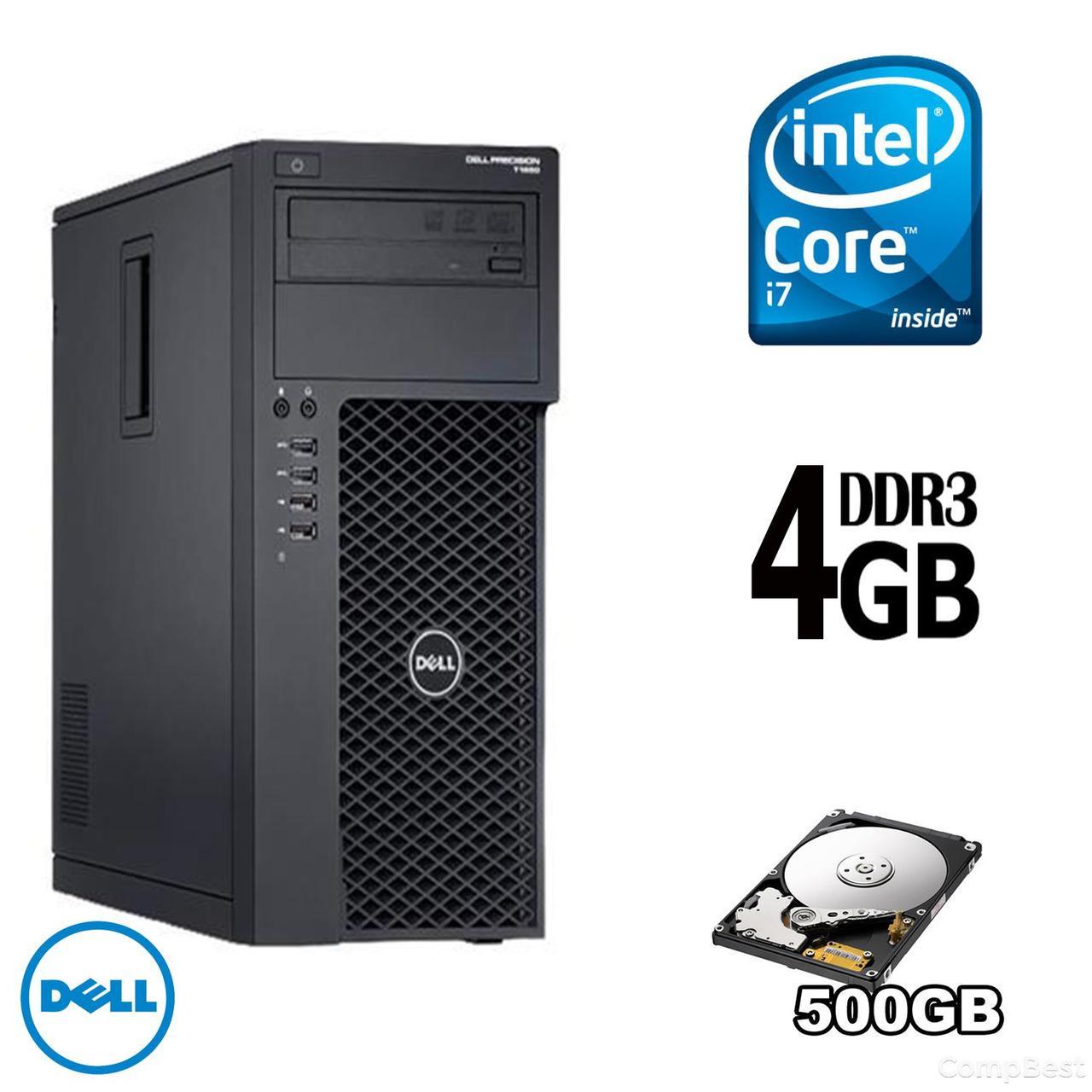 Dell Precision T1650 / Intel® Core™ i7-3770 (4(8) ядра по 3.4 - 3.9 GHz) / 4GB DDR3 / 1TB HDD