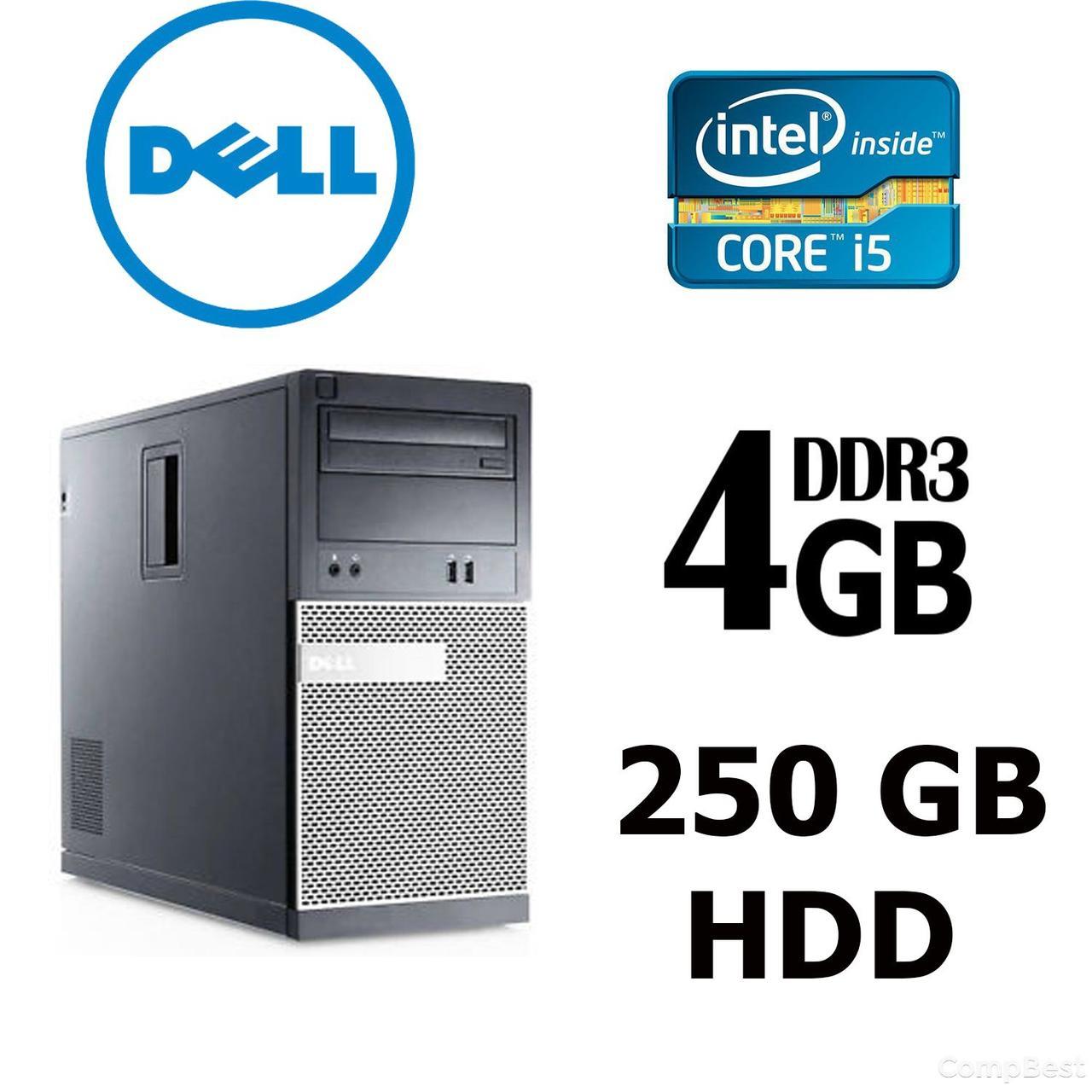 Dell Optiplex 3010 ATX / Intel® Core™ i5-3470 (4 ядра по 3.2 - 3.6 GHz) / 4GB DDR3 / 250GB