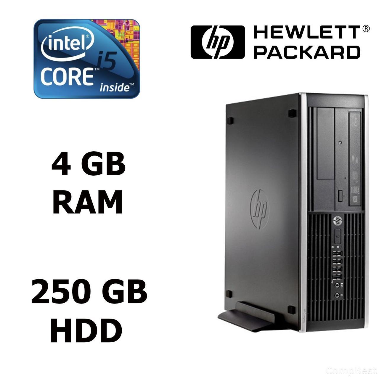 HP Compaq 8200 USFF / Intel Core i5-2500S (4 ядра по 2,70 - 3,70 GHz) / 4 GB DDR3 / 250 GB HDD / ATI Radeon 5450 512MB / DVD-RW