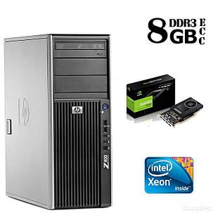 Сервер HP Z400 Tower / Intel Xeon W3565 (4 (8) ядра по 3,20 - 3.46 GHz) / 8GB DDR3/ 1TB HDD / NVIDIA Quadro 2000 1GB DDR5 (128 bit), фото 2