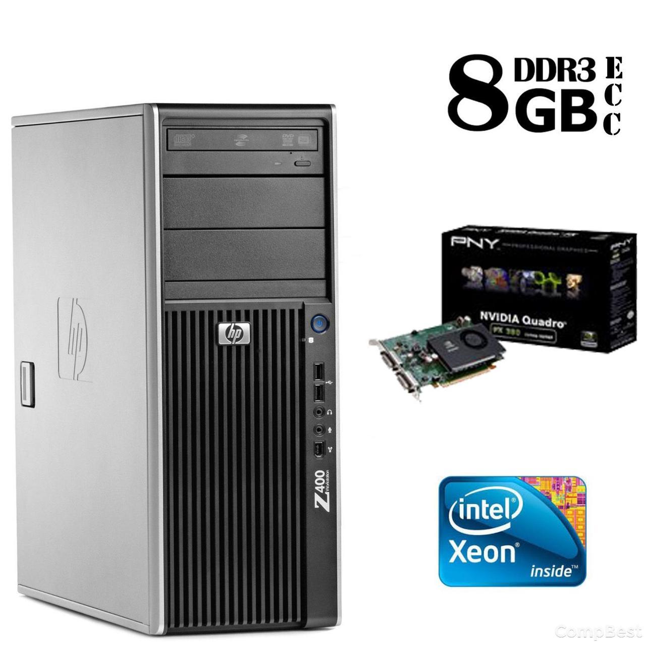 Сервер HP Z400 Tower / Intel® Xeon® W3503 (2 ядра по 2,4 GHz) / 8GB DDR3/ 500 GB HDD / NVIDIA Quadro FX 380